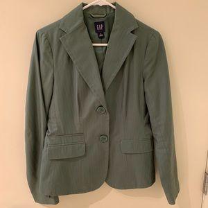 Gap olive green blazer 4